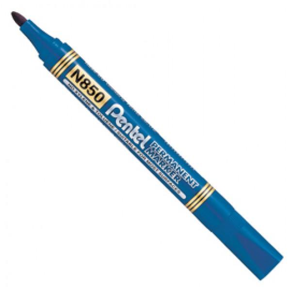 Marcatore Permanent Marker N850 - linea Amiko - punta conica 4,50 mm - blu - Pentel