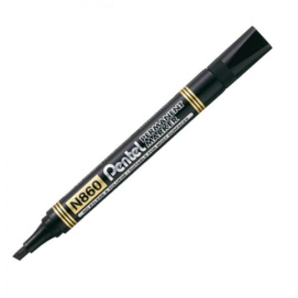Marcatore Permanent Marker N860 - linea Amiko - punta scalpello - 1,2 - 4,50 mm - nero - Pentel