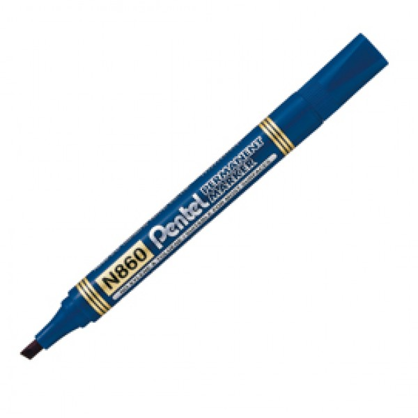 Marcatore Permanent Marker N860 - linea Amiko - punta scalpello - 1,2 - 4,50 mm - blu - Pentel