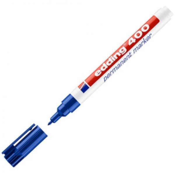 Marcatore permanente Edding 400 - punta conica - tratto 2,00-4,00mm - blu - Edding