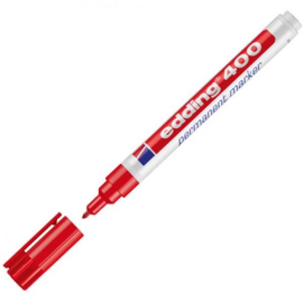 Marcatore permanente Edding 400 - punta conica - tratto 2,00 - 4,00mm - rosso - Edding