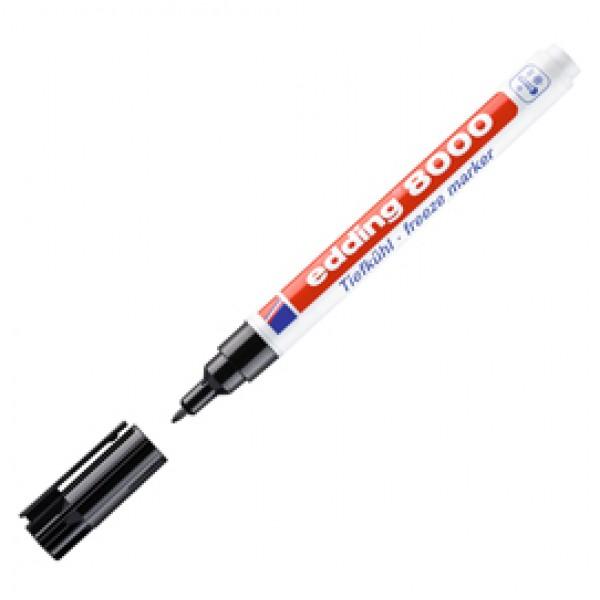 Marcatore permanente 8000 Freezer Marker - punta 1,0mm - nero - Edding
