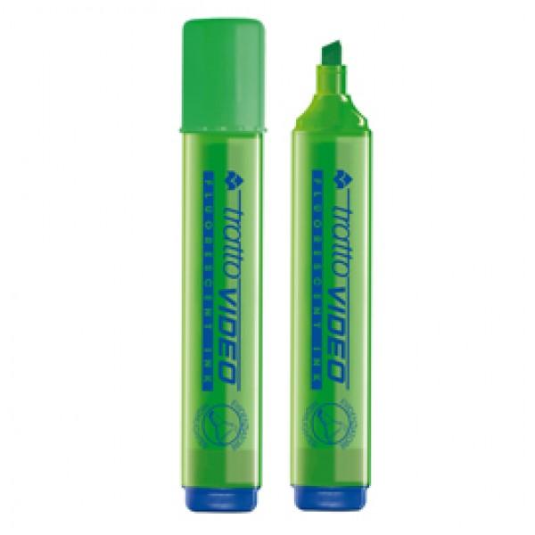 Evidenziatore Tratto Video  - punta a scalpello - tratto da 1,0mm-5,0mm - verde - Tratto