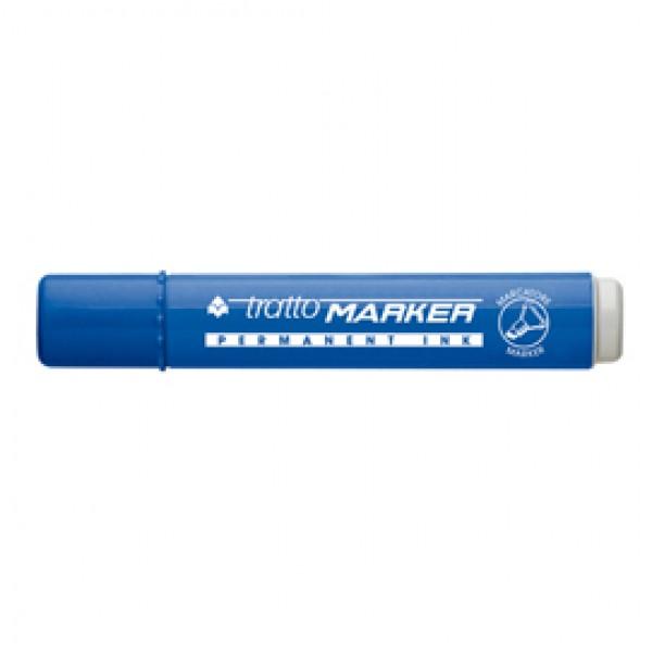 Marcatore permanente Marker - punta a scalpello - tratto 6,50mm - blu  - Tratto