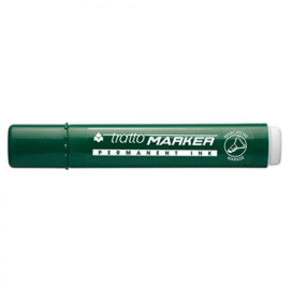 Marcatore permanente Marker - punta a scalpello - tratto 6,50mm - verde - Tratto