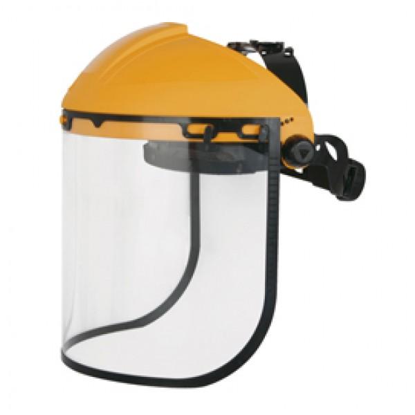 Porta visiera con protezione frontale + Visiera Balbi 2 - 39x20 cm - giallo - Deltaplus