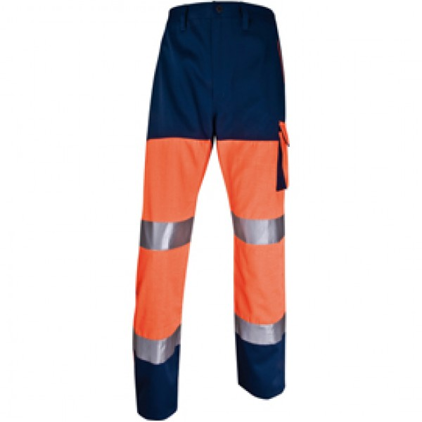 Pantalone alta visibilità PHPA2 - sargia/poliestere/cotone - taglia XL - arancio fluo - Deltaplus