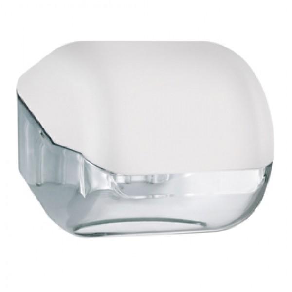 Dispenser Soft Touch di carta igienica - 15x14,8x14 cm - plastica - bianco - Mar Plast