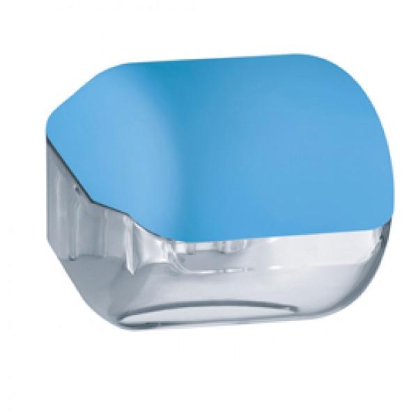 Dispenser Soft Touch di carta igienica - 15x14,8x14 cm - plastica - azzurro - Mar Plast