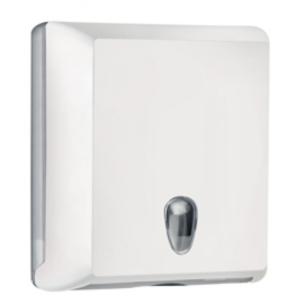 Dispenser asciugamani piegati Soft Touch - 29x10,5x30,5 cm - bianco - Mar Plast