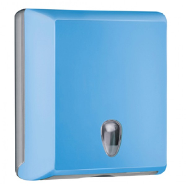 Dispenser asciugamani piegati Soft Touch - 29x10,5x30,5 cm - azzurro - Mar Plast