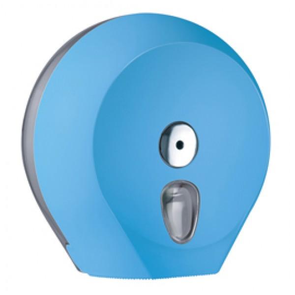 Dispenser Soft Touch di carta igienica in rotolo Mini Jumbo - 27x12,8x27,3 cm - plastica - azzurro - Mar Plast