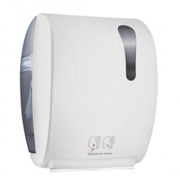 Dispenser elettronico asciugamani Kompatto Advan 875 - 32x22,4x40,5 cm - bianco - Mar Plast