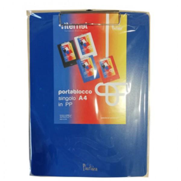 Portablocco con molla in metallo - copertina in PPL - A4 - blu - Iternet