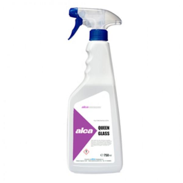 Detergente per vetri Queen Glass - profumo gradevole - Alca - trigger da 750 ml