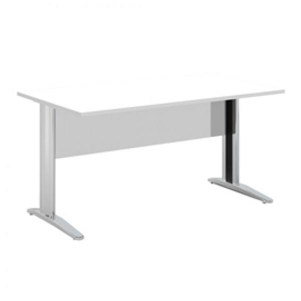 Scrivania Easy Metal - lineare - 140x80x72 cm - bianco - Artexport