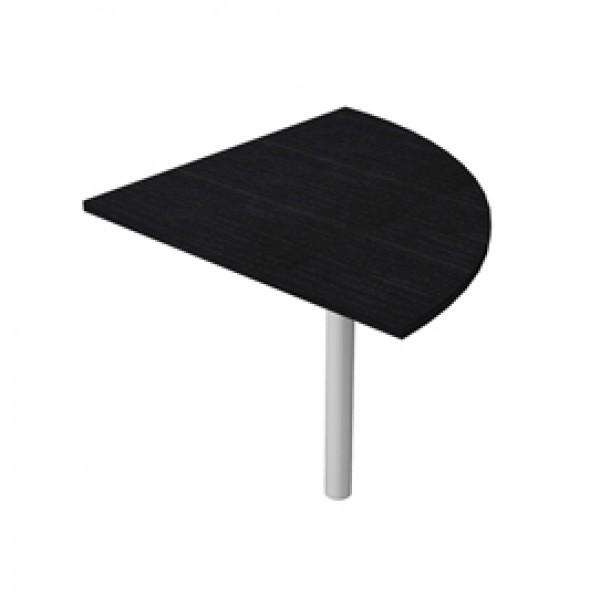 Angolare Easy - 90 gradi - 80x80 cm - gamba di supporto in metallo - nero venato - Artexport