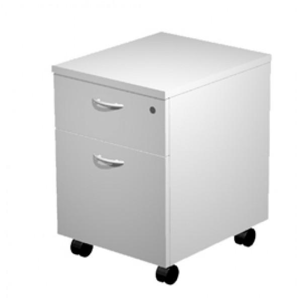 Cassettiera Easy - 41,8x52x59,5 cm - 1 cassetto + 1 classificatore - con ruote - grigio - Artexport