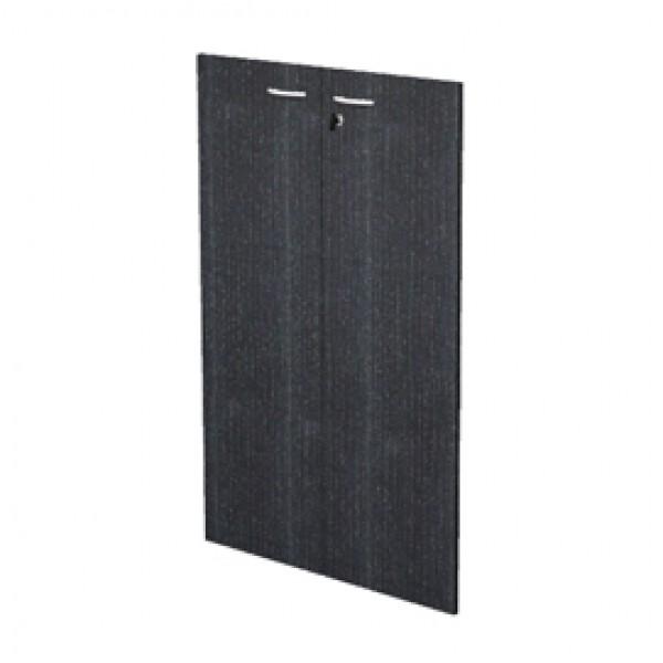 Coppia ante Easy - in melaminico - per mobile medio - 80x115 cm - spessore 18 mm - nero venato - Artexport