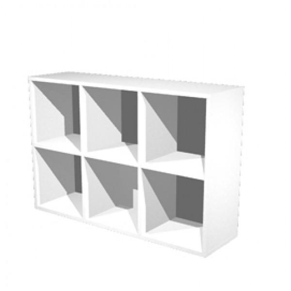 Libreria casellario Rainbow - 6 caselle - 104,1x29,2x69,8 cm - bianco - Artexport