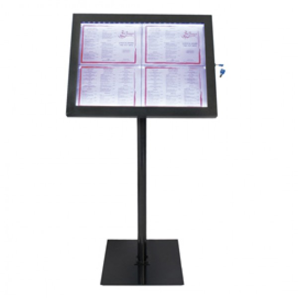 Espositore a LED per esterni/interni - display 4xA4 - Securit