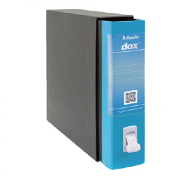 Registratore Dox 2 - dorso 8 cm - protocollo 23x34 cm - azzurro capri - Esselte
