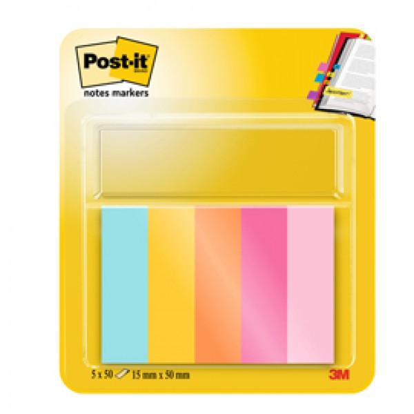 SEGNAPAGINA POST-IT 670-5JA-EU 250FG In 5COLORI INDEX 12,7x44mm In CARTA - 63135