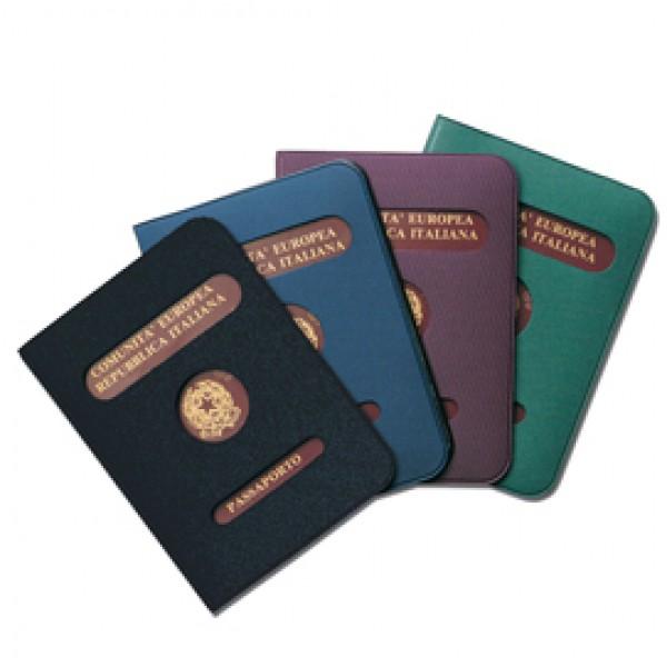 Porta passaporto - colori assortiti - Alplast - conf. 24 pezzi