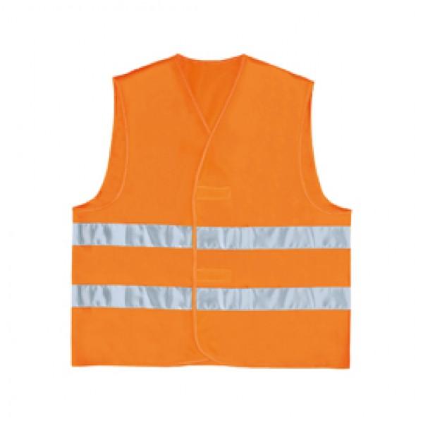 Gilet alta visibilità GILP2 - poliestere - taglia L - arancio fluo - Deltaplus