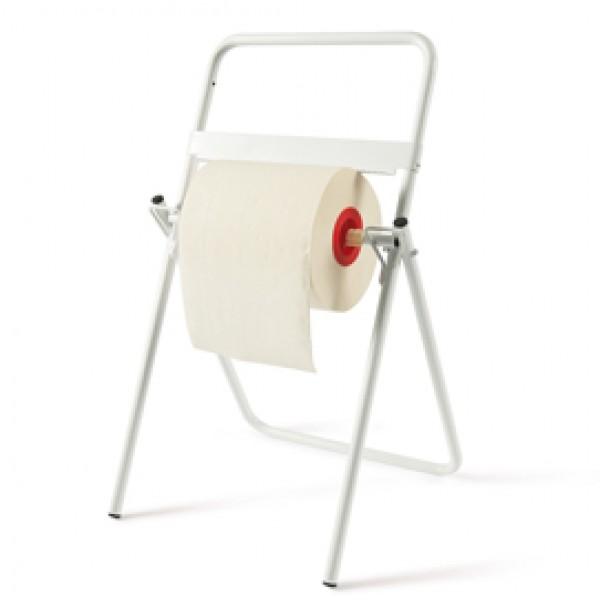 Porta bobina asciugatutto da terra - 40x44x80 cm - metallo - bianco - Perfetto