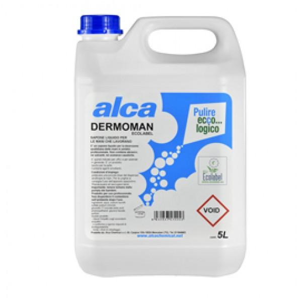 Sapone liquido Dermoman - fiorito - sporco medio - Alca - tanica da 5 L