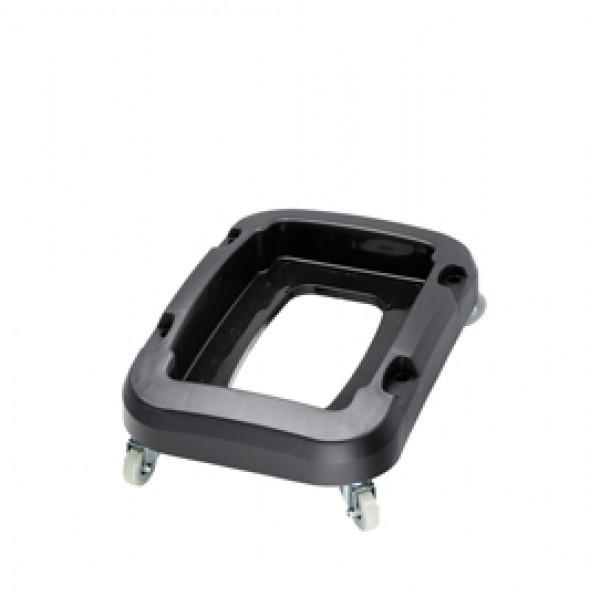 Carrello a 4 ruote per contenitore Office - 32,5×47×15 cm - nero - Medial International