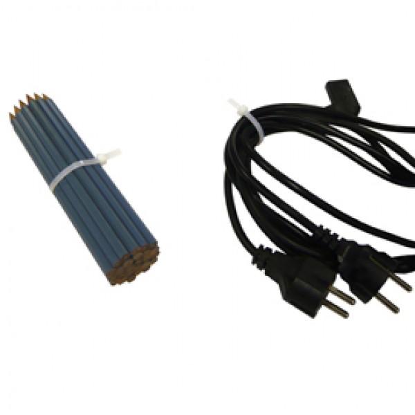 Fascette in nylon - 100x2.5 mm - bianco - Viva - busta da 100 pezzi