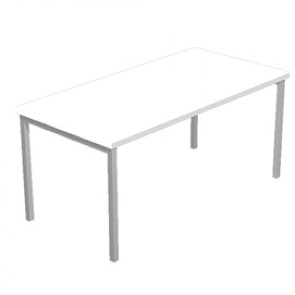 Scrivania Easy Plus - lineare - 138x80x72,5 cm - grigio - Artexport