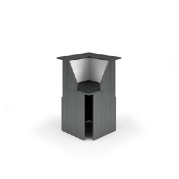 Modulo Prestige reception - 90 gradi - 76,1x76,1x117 cm - nero venato/bianco - Artexport