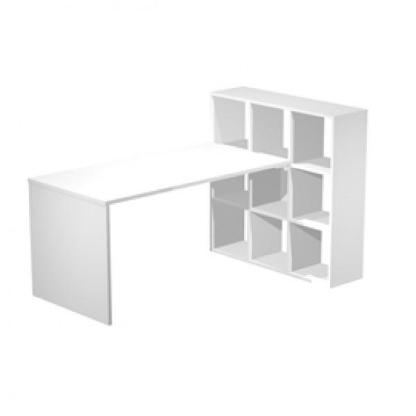 Postazione Home-Office - 9 caselle - 169x104x104 cm - bianco - Artexport