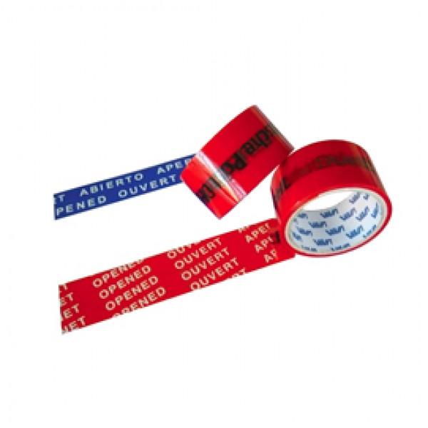 Nastro antieffrazione - rosso - larghezza 50 mm - lunghezza 50 mt - Viva