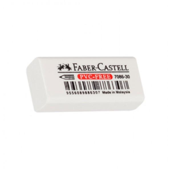 Gomma mini in vinile - bianca - per matita - Faber Castell