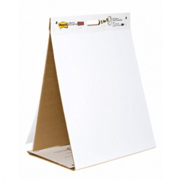 Blocco/Lavagna da tavolo Super Sticky autoportante - 20 fogli - 58,4x50,8 cm - bianco - Post-it®