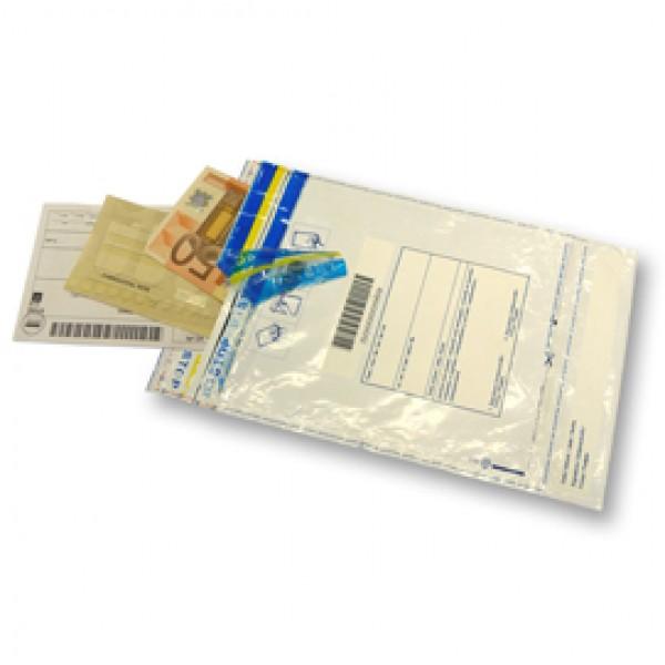 Busta di sicurezza - 160x225 mm - LDPE riciclabile - 70 micron - Viva - conf. 50 pezzi