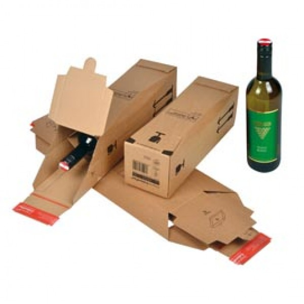 Scatola CP 181 per bottiglie - modulo base per 1 bottiglia - 74x74x305 mm - ColomPac®