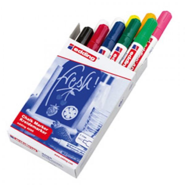 Marcatore Edding 4095 - punta tonda 2,00 - 3,00 mm - 10 colori assortiti - Edding - astuccio 10 pezzi