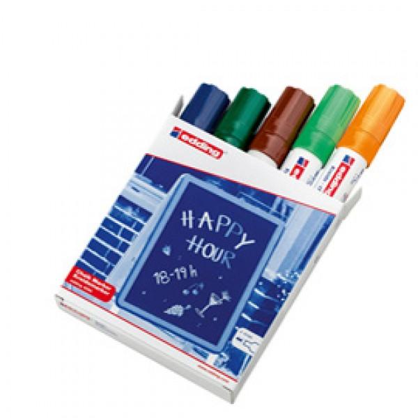 Marcatore Ending 4090 - punta scalpello 4,00 - 15,00 mm - colori assortiti - Edding - astuccio 5 pezzi