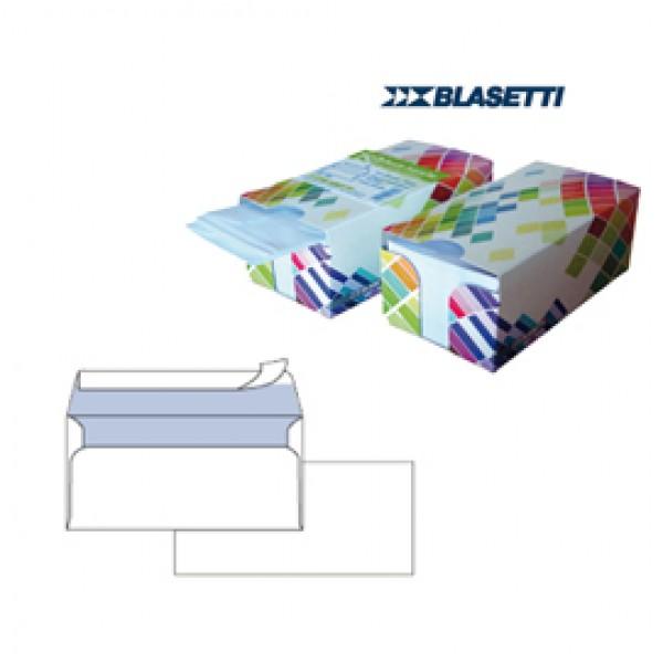 Busta bianca senza finestra - serie Mailpack - certificazione FSC - strip adesivo - 110x230 mm - 90 gr - Blasetti - dispenser da 150 pezzi