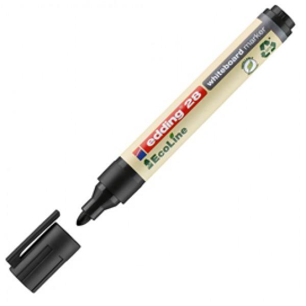 Marcatore per lavagne bianche 28 EcoLine - punta conica da 1,50-3,00mm - nero - Edding