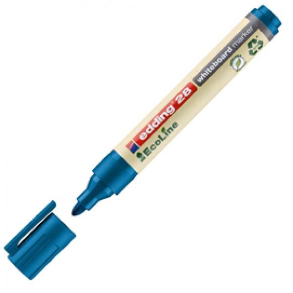 Marcatore  per lavagne bianche 28 EcoLine - punta conica da 1,50-3,00mm - blu - Edding