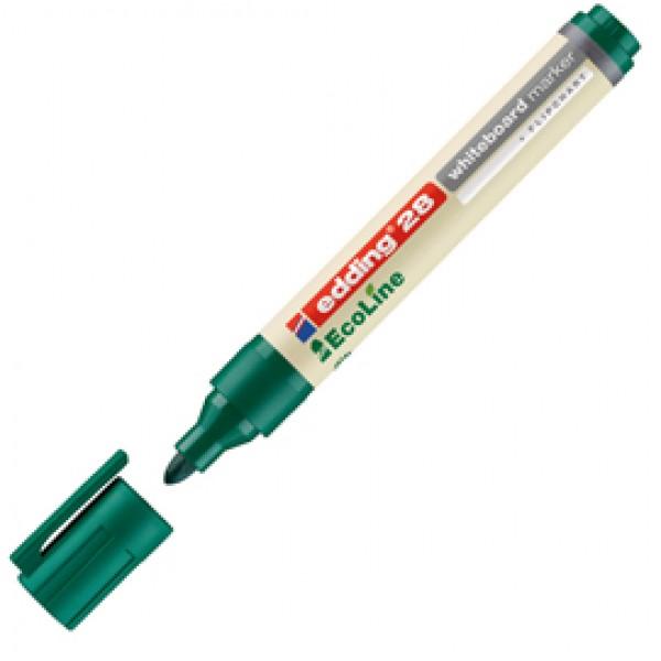 Marcatore 28 per lavagne bianche EcoLine  - punta conica da 1,50-3,00mm - verde - Edding