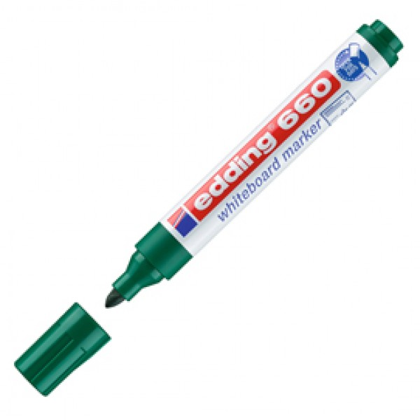 Marcatore 660 per lavagne bianche - punta conica da 1,50-3,00mm - verde - Edding