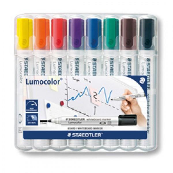Marcatore cancellabile Lumocolor whiteboard 351 - tratto 2,0 mm - Staedtler - astuccio 8 pezzi