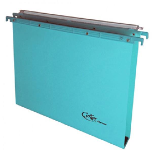 Cartella sospesa Joker - cassetto - interasse 39 cm - fondo U 3 cm - 37x25 cm - blu - Bertesi